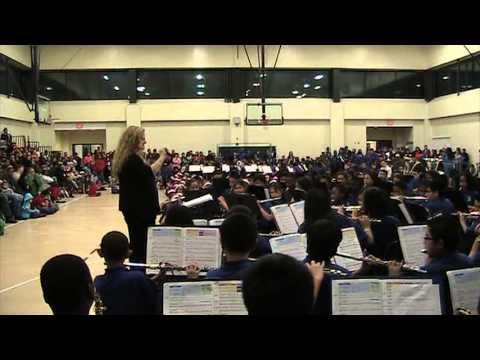 Teacher Kathy Mason., Louise Radloff Middle School Band