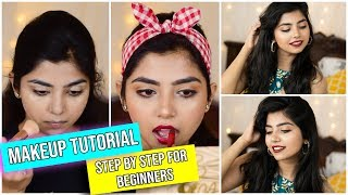 Hindi Step By Step Makeup Tutorial For Beginners| Festive season edition