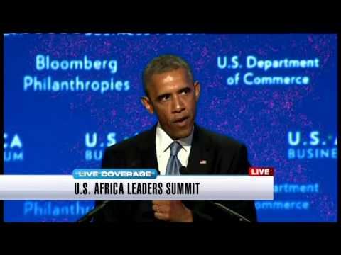 Obama addresses U.S.-Africa Leaders Summit - Part 1