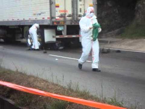 Accidente en autopista Medellín Bogota