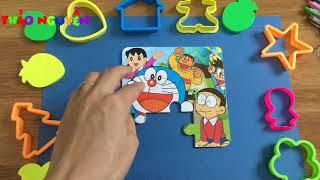 TRÒ CHƠI GHÉP HÌNH THÔNG MINH -tranh ghép hình DORAEMON,NOBITA,CHAIEN,SHIZUKA -đồ chơi thông minh