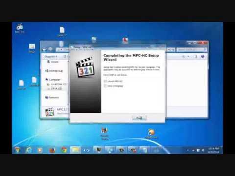 instal MPC ()media player classic)