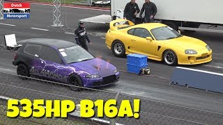 500HP Honda Civic B16A w/ Precision Turbo - 10 Second 1/4 Mile!