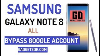 Bypass FRP Google account on Samsung Note 8 ( Latest New update 2018)