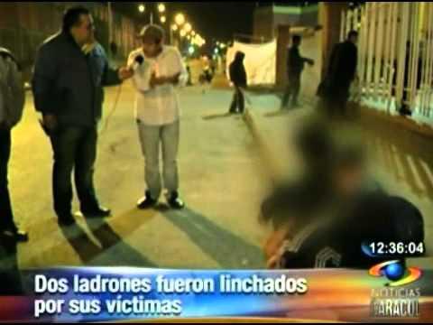 Dos ladrones fueron linchados por sus víctimas