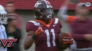 Virginia Tech's Hendon Hooker Connects WIth Tre Turner For 55-YD Touchdown