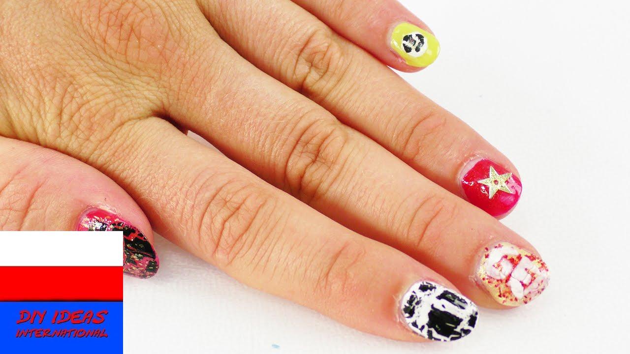 5 pomysłów na zwariowany manicure | krakelura, brokat i złote gwiazdki