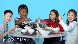 Kids Try Chinese Hot Pot | Kids Try | HiHo Kids