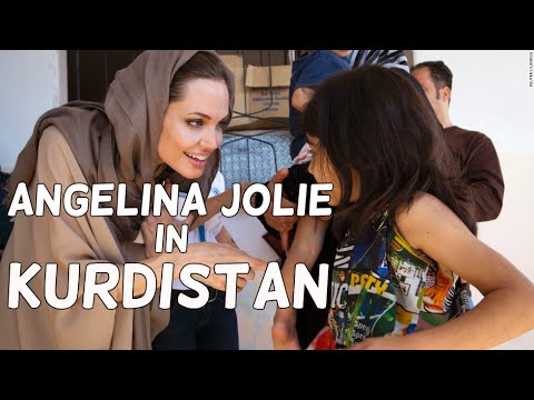 Angelina Jolie Visited Displaced Families in Kurdistan 2015