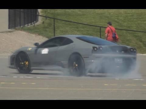 Ferrari 430 Scuderia Burnout