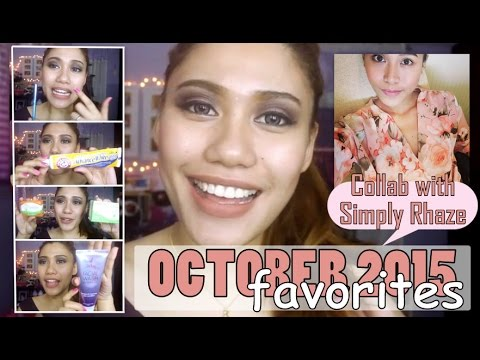 OCTOBER 2015 FAVORITES (Collab w/ Simply Rhaze)