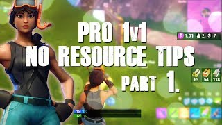 """FORTNITE TIPS 1v1 """"NO RESOURCES"""" HOW TO WIN MORE GUNFIGHTS"""