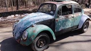 The 1966 Volkswagen Beetle / Baja Vw Bug walk around & the 1970 Charger comes out for spring spin.
