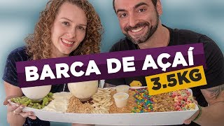 """Massive 8 pound Acai """"Barge"""" + toppings!!"""