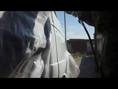 Покрасить газель своими руками видео