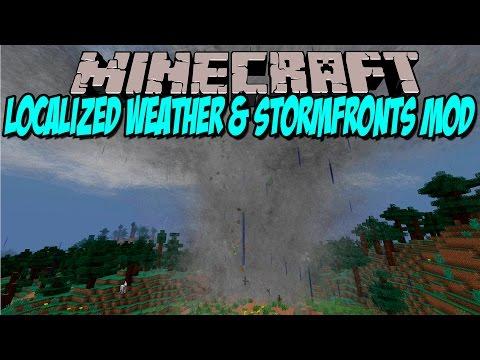 WEATHERS & STORMFRONTS MOD - Tormentas y tornados!! - Minecraft mod 1.6.4. 1.7.2 y 1.7.10 Review