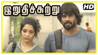 Irudhi Suttru Tamil Movie   Scenes   Madhavan rescues Ritika   Mumtaz angry at Ritika   Nasser