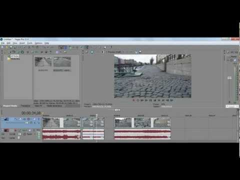 Как сделать картинку на видео sony vegas pro