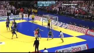 Euro 2010 finale (fin match) - Croatie 21-25 France [2010-01-30]