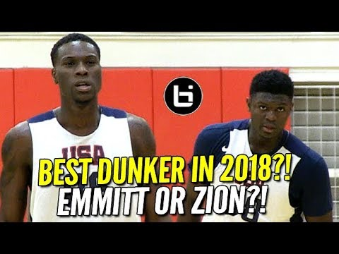 Zion Williamson & Emmitt Williams 2018's Best Dunkers ON SAME TEAM! USA Basketball Highlights!