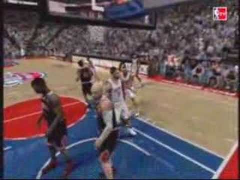 Tayshaun Prince Dunks on Drew Gooden: NBA 2k8 Video