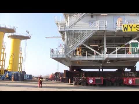 Heavy Haulage 1200 Tonnes Wind Farm Transformer