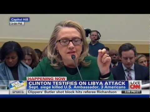 Hillary Clinton Interrogated about YouTube Video Claim - Benghazi Testimony - 1/23/13