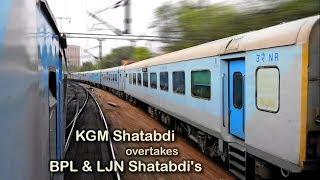 Parallel Racing : Bhopal Shatabdi Overtaken by Kathgodam Shatabdi Exp Train