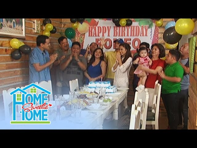 Home Sweetie Home: Romeo's guest greet him a happy birthday