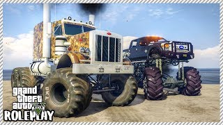 GTA 5 ROLEPLAY - Monster Lifted Trucks Defeat Mud Bounty Hole | Ep. 344 Civ