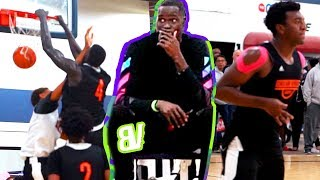 Thon Maker Watches His Cousin Dunk ALL OVER Another Player! HE TOO BIG! Dream Vision VS LA Elite 17U