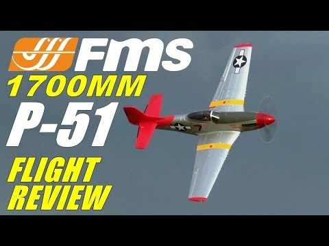 FMS / Diamond Hobby P-51 MUSTANG RED TAIL 1700mm FULL Flight Review