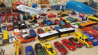 Dlan surprised by a thousand toy cars for kids