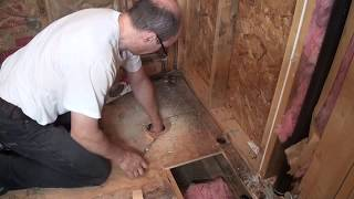 Download Move toilet, new drain pipe. Bathroom Remodeling. Part 5. 3Gp Mp4