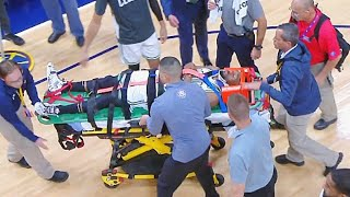 Kemba Walker Scary Neck Injury! Celtics vs Nuggets 2019 NBA Season
