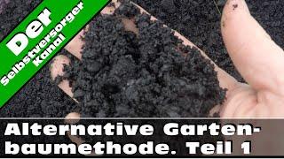 Alternative Gartenbaumethoden. Holzkohle und Komposttee.