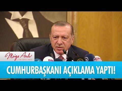 Cumhurbaşkanı Recep Tayyip Erdoğan açıklama yaptı - Müge Anlı İle Tatlı Sert 5 Ocak 2018