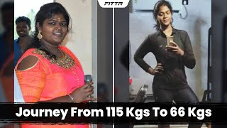 Weight Loss Transformation - Journey From 115 Kgs To 66 Kgs
