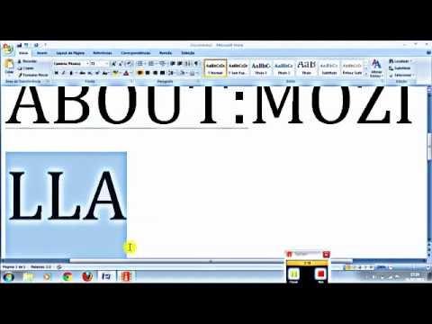 MENSAGEM SUBLIMINAR NA MICROSFT WORD 2007 E NO MOZILLA
