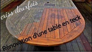 Rénover une Table de Jardin en Teck ; Sans Produit ; Exterieur ; Bretagne ; France