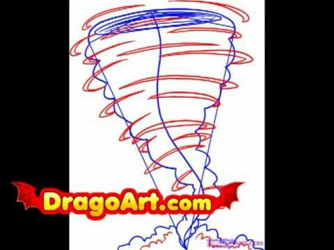 How To Draw A Tornado Step By Step Youtube