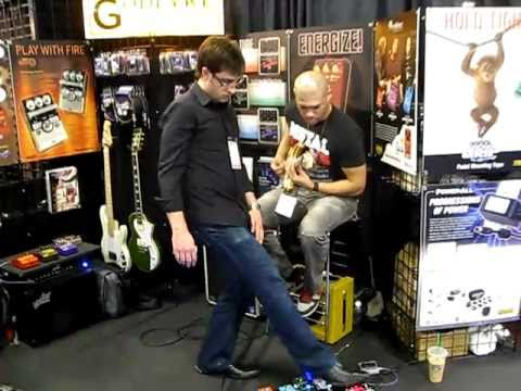 God Forbid Guitar Player Doc Coyle Guitar at NAMM 2011 Gear Rig Equipment Amps
