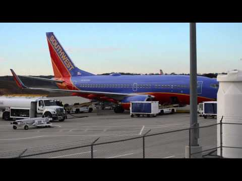 Southwest Airlines 737 at the  Branson Airport