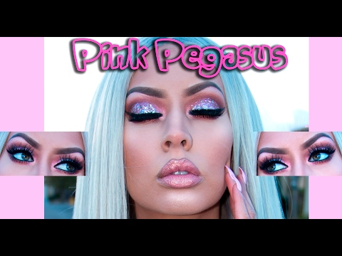 PINK PEGASUS GLITTER 🦄 MAKEUP TUTORIAL!