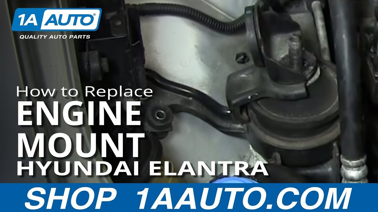 How To Install Replace Upper Engine Mount Hyundai Elantra Youtube