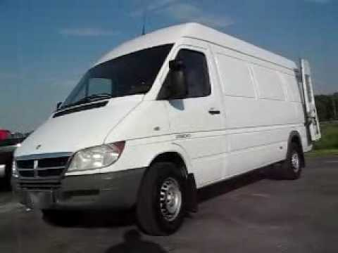 521569 White Dodge Sprinter Cargo Van Video