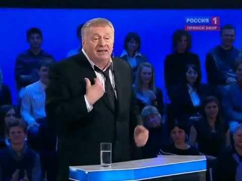 Žirinovskis izlamājas ar Allu Pugačovu