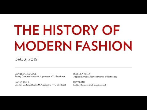 The History of Modern Fashion