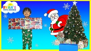 Christmas Morning 2015 Opening Presents Surprise Toys Ryan ToysReview