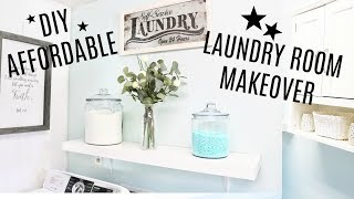 (13.8 MB) DIY Affordable Laundry Room Makeover- BEFORE & AFTER REMODEL Mp3